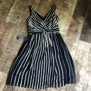 NWT Ann Taylor striped dress. Gorgeous classic